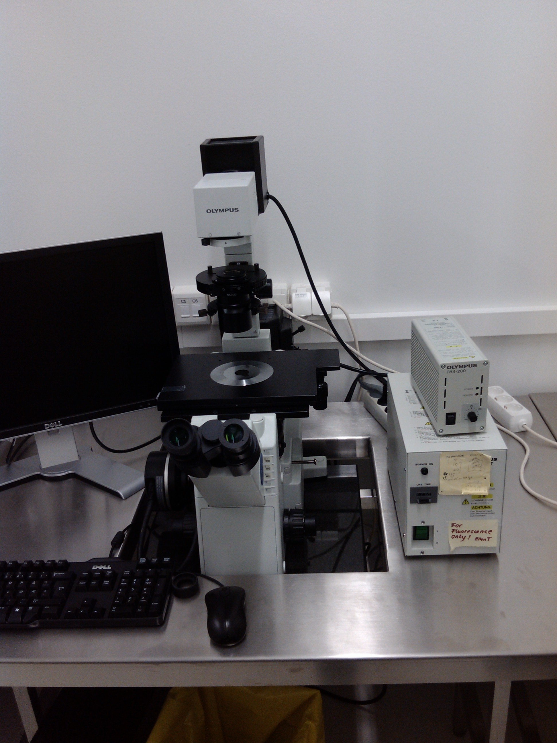 Picture of Optical Microscope Olympus IX51/TH4-200